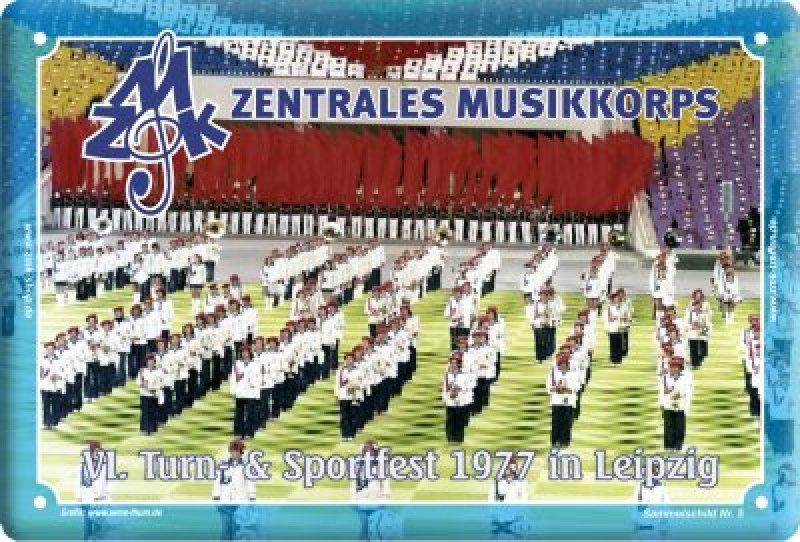 """Blechschild """"ZMK Treffen 2015 - Leipzig 1977"""""""